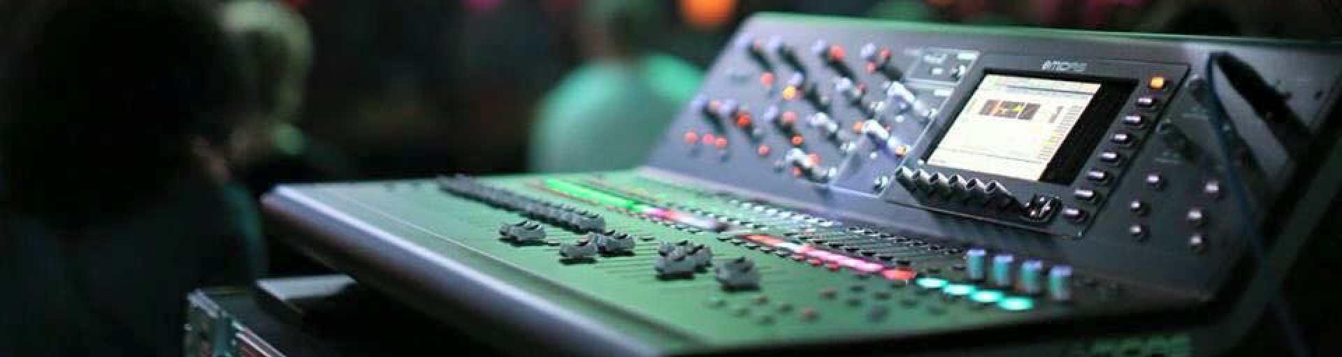 Show with Midas mixer console